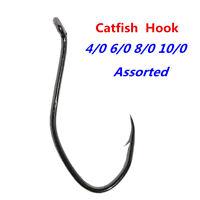 100pcs Catfish Hook Saltwater Big River Bait Offset Strong Fishing Hook Assorted
