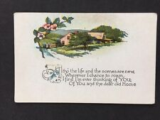 "Vintage Greetings Card: #AA321: ""Altho The Life & Scenes Are New.."""