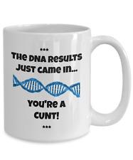 Insulting DNA Mug - Funny, Rude 15oz White Ceramic Genetic Code Coffee Tea Cup