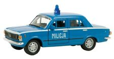 BLITZ VERSAND Fiat 125p MILICJA blau / blue Welly Modell Auto 1:34 NEU & OVP 1