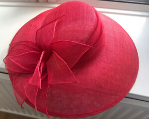 Ladies Red Hat By Debut Racing Or Wedding Day Hat Stunning