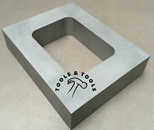 "ALUMINUM MOLD FRAME SINGLE CAVITY VULCANIZER RUBBER SIZE 4"" x 4-7/8"" CASTING"