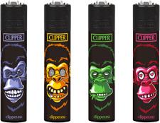 Clipper Classic Original Feuerzeug Serie 'Affen' 4 Stück Feuerzeuge NEU