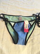 H15 NEW Xhilaration Women's swim Suit Green White Crochet Bikini Bottoms Small