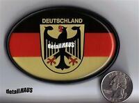 OVAL D DEUTSCHLAND EU GERMAN BADGE - VW BMW MERCEDES AUDI PORSCHE FREE SHIP