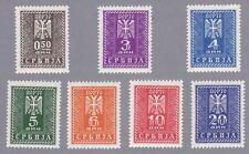 Serbien Portomarken Mi.Nr. 16-22 postfrisch