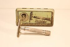 "VINTAGE VERY RARE WW2 ERA GERMANY SAFETY RAZOR""BONSA"" WITH TIN ORIGINAL BOX"