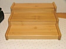 New listing Expandable 3 Tier Wood Spice Storage Rack/Organizer