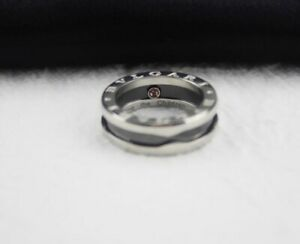 BVLGARI Logo 925 Sterling Silver Size 8  Made In Italy