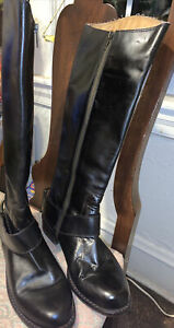 Juicy Couture Equestrian Leather Riding Boots Black Harness Horse Bit LOW $