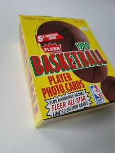 1990-91 FLEER BASKETBALL WAX BOX - 36 Unopened SEALED PACKS. Entire Box NBA 🔥