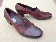 "K by Clarks leather slip on shoes elastic gussets 2""  heels UK size 6 (EU 39)"