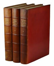 Poems ~ RUDYARD KIPLING ~ Signed Limited First Edition ~ 3 Volumes Leather 1st