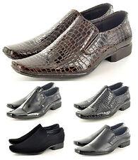 Hombre Estilo Italiano Formal/Boda Zapatos sin Cierres Disponible GB Size 6-11