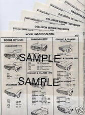 1993 1994 1995 1976 1997 FORD RANGER BODY PARTS LIST CRASH SHEETS ***
