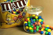 Personalized 27oz Covered Glass Candy Jar, Canister, Cookie Jar, Trinket Jar,