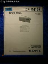Sony Service Manual ICF M410S PLL Synthesized Radio (#5505)