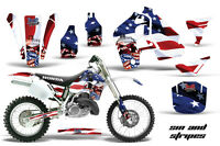 Dirt Bike Graphics Kit MX Decal Wrap For Honda CR500 CR 500 1989-2001 SIN STRIPs