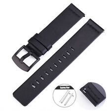 18 20 22mm Quick Release Black Brown Genuine Leather Watch Band Strap For Fossil