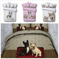 Pug/Husky Puppy Duvet Cover Pillow Case Animal Quilt Cover Pillow Cases Bed Set