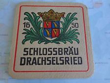 Beer Bar Coaster ~**~ Drachselsrieder Schlossbräu R. Bruckmayer ~*~ Respekt Bier