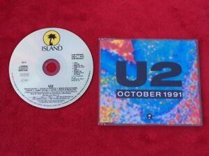 U2: October 1991 - Ultra Rare UK Radio Promo Cd - **250 Pressed** - Cat No: U2-3