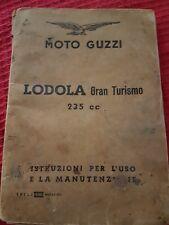Libretto uso e manutenzione Moto Guzzi lodola 235