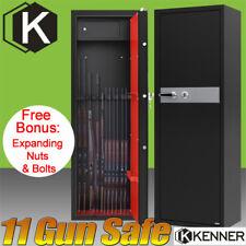 11 Rifle Storage Gun Safe Key Lock Firearm Box Steel Cabinet Vsafe 10