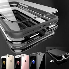 iPhone 7/ 8 Plus Clear Case Hard Plastic Back Aluminum Metallic Bumper Cover AU