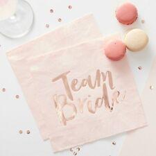 20 x TEAM BRIDE HEN NIGHT ROSE GOLD NAPKINS Vintage Hen Party Accessories