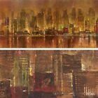 "48W""x24H"" CITY LIGHTS by MICHAEL LONGO - MANHATTAN NEW YORK CENTRAL PARK CANVAS"