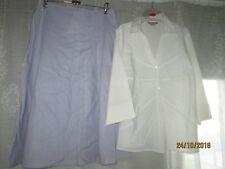 """WOMBAT""""A-LINE SKIRT-LINEN.Size 12 &""""NONI B"""" Light BLOUSE.Collar;Buttons.VGC"""