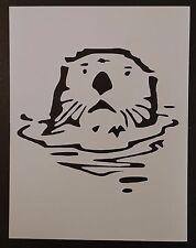 "Sea Otter 8.5"" x 11"" Custom Stencil Fast Free Shipping"