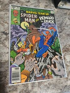 MARVEL TEAM-UP #96 (NM-) SPIDER-MAN! HOWARD THE DUCK! Newsstand Edition! 1980