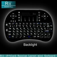 Russian RU Layout Backlight Rii mini i8+ wireless keyboard for smart TV Computer