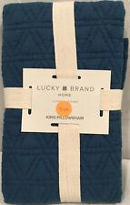 Lucky Brand King Pillow Sham 100% Cotton Nwt