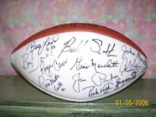 14 BALTIMORE COLTS SIGNED 3 WHITE PANEL FOOTBALL RARE!