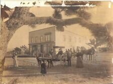 1890 Photograph of the Post Office at Hesperia California by C H Shaffner