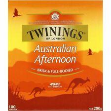 Twinings of London Australian Afternoon 100 Tea Bags 200g Box NEW
