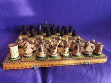 Schachspiel aus Holz/Handarbeit 40 x 40cm