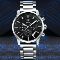 BENYAR Waterproof Japan Quartz Movement Men Military Wrist Watch Steel Band Gift