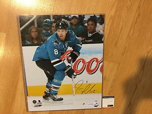 Joe Pavelski Signed 16x20 Photo SJ San Jose Sharks PSA DNA COA Autographed a