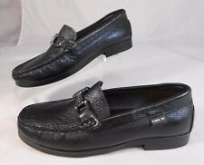 Pliner Jrs Hand Made Vera Pele Youth Loafers Size 3 3.5 Pinched Toes Black