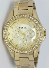 Authentic Original Fossil ES3203 Riley Champagne Gold Ladies Womens Watch