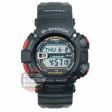 Casio G-Shock G-Series Black & Red Mudman-Mud Resist Resin Band G-9000-1V- New