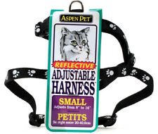 Aspen Pet Reflective Adjustable Cat Harness Black Small Adjusts From 8-16 Inch