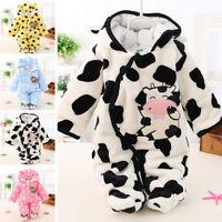 Newborn Baby Clothes Girls Boys Romper Winter Jumpsuit Kid Cartoon Outfits 3-12M