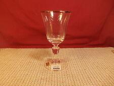 "Miller Rogaska Crystal Alfresco Platinum Wine Goblet 6 3/4"" NWT"