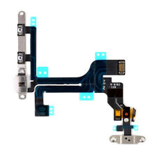 OEM Power Mute Volume Button Switch Flex Cable with Metal Bracket for iPhone 5C
