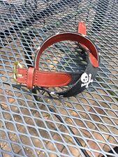 Boys Medium Smathers & Branson Needlepoint Belt Jolly Roger 29�